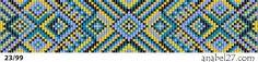 Схемы браслетов - станочное ткачество (loom beading)