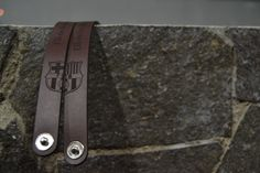 This is a couple of customized leather bracelet for a fan couple of Barcelone F.C. Customize yours, just contact our marketing lady, Astri on BBM 7CD33D69