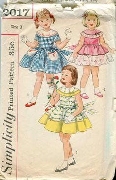 Simplicity 2017 Todler Girls Summer Dress Pattern by bellaloona