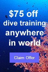 $75 voucher for dive training anywhere in the world - claim offer