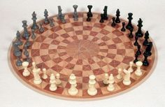 A three man take on chess that makes no compromises when it comes to the rules, strategy, or fun of the original: http://www.walletburn.com/Three-Man-Chess_804.html #chess #home