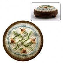 Dollhouse needlepoint footstool kit Eleanor