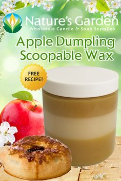 Free Apple Dumpling Scoopable Wax Recipe by Natures Garden