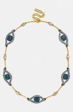 BaubleBar 'Evil Eye Baby Blues' Necklace available at #Nordstrom