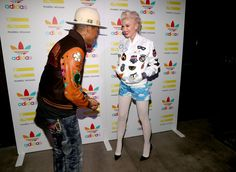 Gwen Stefani Photos Photos - Pharrell Williams (L) and singer Gwen Stefani attend the collaboration celebration of Pharrell Williams and Adidas at Hinoki & The Bird on December 3, 2014 in Los Angeles, California. - Pharrell Williams And Adidas Celebrate Collaboration
