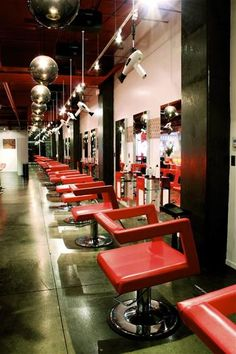 DISconnected Hair Salon....*heart stopped* when I saw the blow dryers in the ceiling.......