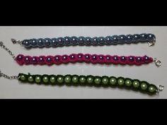 Bracciale perle e uncinetto/Pearl bracelet and crochet /Brazalete de perlas y ganchillo - YouTube
