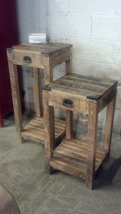 Reclaimed wine crate end tables - $199-299