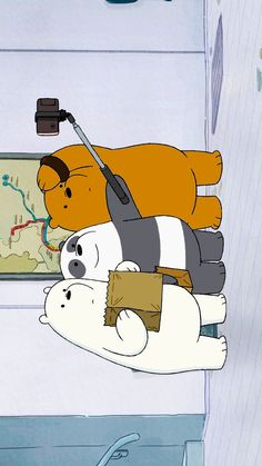 Funny Phone Wallpaper, Sad Wallpaper, Cute Disney Wallpaper, Cute Wallpaper Backgrounds, Cartoon Wallpaper, We Bare Bears Wallpapers, Panda Wallpapers, Cute Wallpapers, Ice Bear We Bare Bears