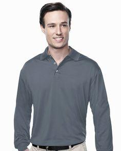 Men's L/S Golf Shirt Tri mountain K224LS #GolfShirt  #LongSleeve  #comfort