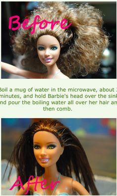Fix Barbie hair