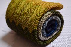 ...beautifully knit Chevron Baby Blanket by Purl Soho, as knit by amiijjang...love, love, love...