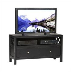Linon 86106C124-01-KD-U Anna Media Center in Antique Black only $219.99 at http://www.thebestdealsonline.com/