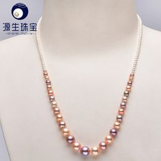 Aliexpress.com : Buy 2  9mm Size Nice Charm REAL Freshwater Pearl Necklace for women white Fashion Jewelry YSN001 from Reliable necklace video suppliers on pearls by yuansheng