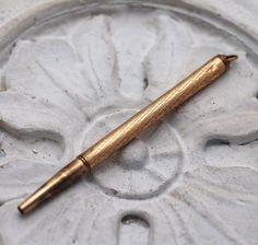 Vintage Mechanical Pencil Pendant by CinderedSister on Etsy, $15.00