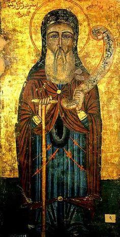 الأنبا أنطونيوس Russian Icons, Byzantine Art, Art Icon, Orthodox Icons, Blessed Mother, Sacred Art, Christian Art, Black Art, Egyptian