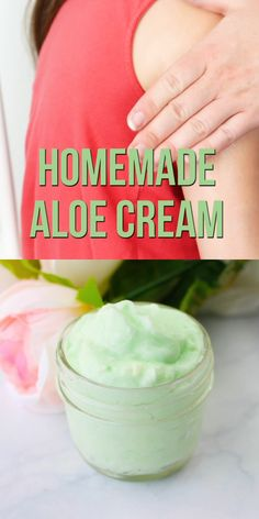 A soothing sunburn cream made with just three simple ingredients this DIY aloe cream is a quick summer DIY every mom needs to make DIYvideo DIYbeauty SSG Homemade Skin Care, Homemade Beauty Products, Diy Skin Care, Natural Products, Diy Beauty Products Videos, Diy Beauty Tips, Diy Spa Products, Diy Natural Beauty Routine, Homemade Facial Moisturizer