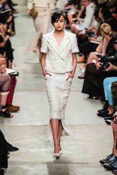 Chanel 2014 runway | Also, the coveted espadrilles were recreated in a lace up version ...