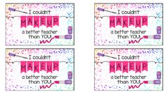 Total Tippins Takeover: end of school year and teacher appreciation printables (FREE!)...