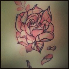 Add this Neo-traditional open rose to mine Neo Traditional Roses, Traditional Tattoo Flowers, Traditional Tattoo Design, Rose Flower Tattoos, Flower Tattoo Designs, Tattoo Sketches, Tattoo Drawings, Rose Drawings, Drawing Flowers