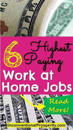 Thanks for posting these 6 highest paying work at home jobs no experience required! Legitimate work-at-home jobs can be hard to find and these are the BEST ones that we have found!