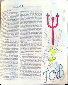 Job 1:12 Job Bible, Faith Bible, Bible Art, Job 1, Bible Pictures, Illustrated Faith, Biblical Quotes, Bible Journal, Art Journaling