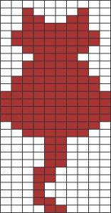 Quadrillage Pixel - Animaux Chat 3