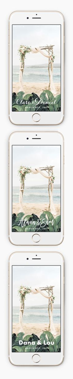 Yes, You Can Get a Custom Snapchat Filter for Your Wedding for $12 —This design is perfect for a beach, destination, or tropical wedding!