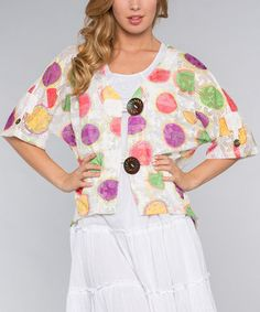 Another great find on #zulily! White Circle Sidetail Shrug #zulilyfinds