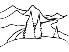 Printable Coloring Pages Animals Jungle : How to draw a landscape for kids step 4 happy haddie pinterest