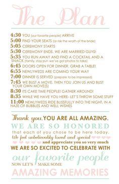 sample wedding reception program | Ceremony | Pinterest | Wedding ...