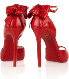 Bold Red Christian Louboutin Noeud Pumps