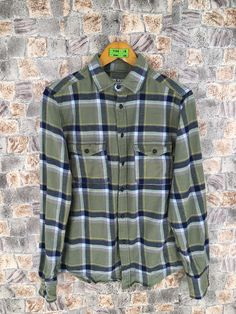 Excited to share the latest addition to my #etsy shop: Flannel Checkered Shirt Unisex Small Vintage Plaid Checkered Casual 90s Hipster Indie Boho Green Check Button Up Shirt Size S #womenflannelshirt #smallplaidflannel #menflannelshirt #boyfriendshirt #90shipsterflannel #hipsterflannel #buttonupflannel #greenflannelshirt #greencheckered