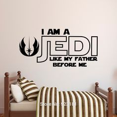 Star Wars Luke Skywalker Quote Wall Art Sticker Decal Home DIY Decoration Wall…