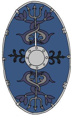 Roman Auxiliary Shield Cohort 2 Gallorum Dacia
