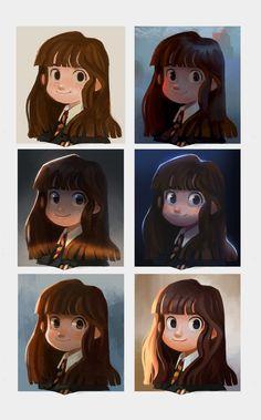 Hermione, Rachel Christin on ArtStation at https://www.artstation.com/artwork/8JXLq