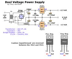 Electrical Engineering World: Dual Voltage Power Supply Electronics Projects, Hobby Electronics, Electronics Basics, Electronic Circuit Projects, Electronics Components, Electrical Symbols, Electrical Projects, Electrical Engineering, Electrical Installation