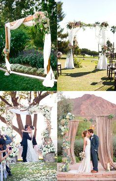 La decoraci n para el altar en la boda decoracion for Decoracion de parques y jardines