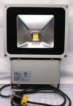 MAXI-SIGNAL FL-80-250 80W LED Flood Light, 85 to 260 VAC, 277 VAC & 250 VDC #MAXISIGNAL #ModernFloodLight