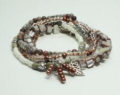 DURANGO: Stackable Stretch Bracelets with Jasper Gemstone Beads