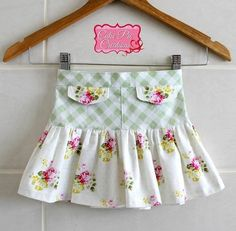 PDF Pattern: Girls Ruffle Flip Skirt
