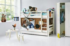 Classic Bunk Bed with Pirate Theme