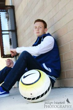 Senior Boy Picture ideas Senior boy soccer player High School soccer player Jaclyn Heward Photography