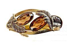 Topaz Glass Hinged Bracelet WHITING & DAVIS by RenaissanceFair