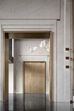 Lift Design, Door Design, Wall Design, House Design, Design Design, Lobby Interior, Interior Architecture, Contemporary Interior, Modern Interior Design