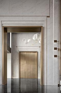 Lift Design, Door Design, House Design, Design Design, Hotel Corridor, Hotel Door, Lobby Interior, Interior Architecture, Modern Interior