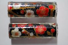 Handcrafted Resin Cast Pen Blank Chiyogami Japanese Paper on Sierra Style Tube by woodenquill on Etsy