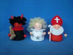 Mikuláš, čert a anděl - skládací figurky BD-Tova