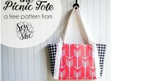 Need a simple tote bag that is strong, simple to sew and looks stylish? We think we have the perfect pattern for you – and it's free! Sew up a basic tote that looks anything but… …