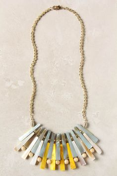 like the way these beads are strung for a lyered effect via Anthropologie #jewelry #necklace #beads